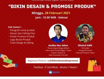 Workshop Bikin Desain dan Promosi Produk